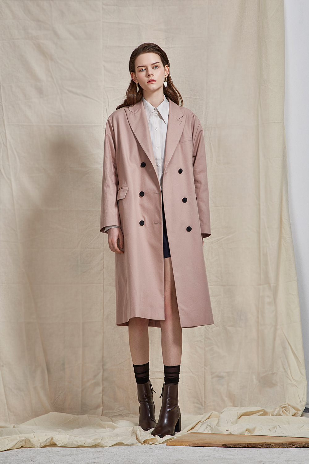 oversized double coat