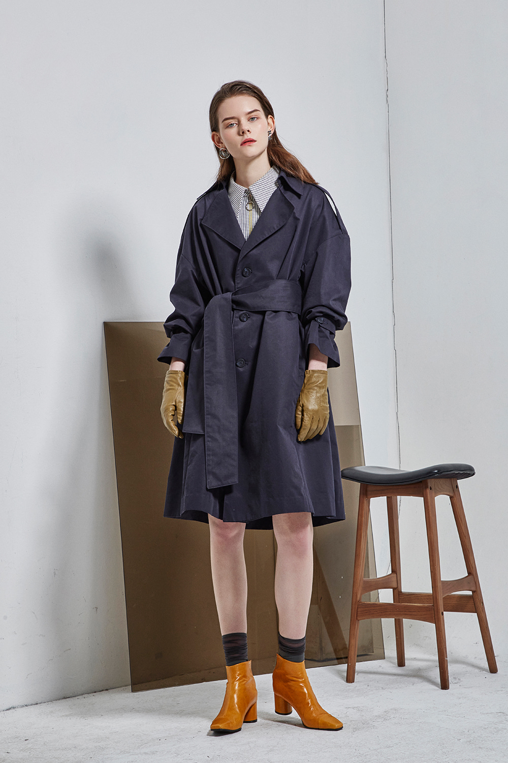 hole trench coat