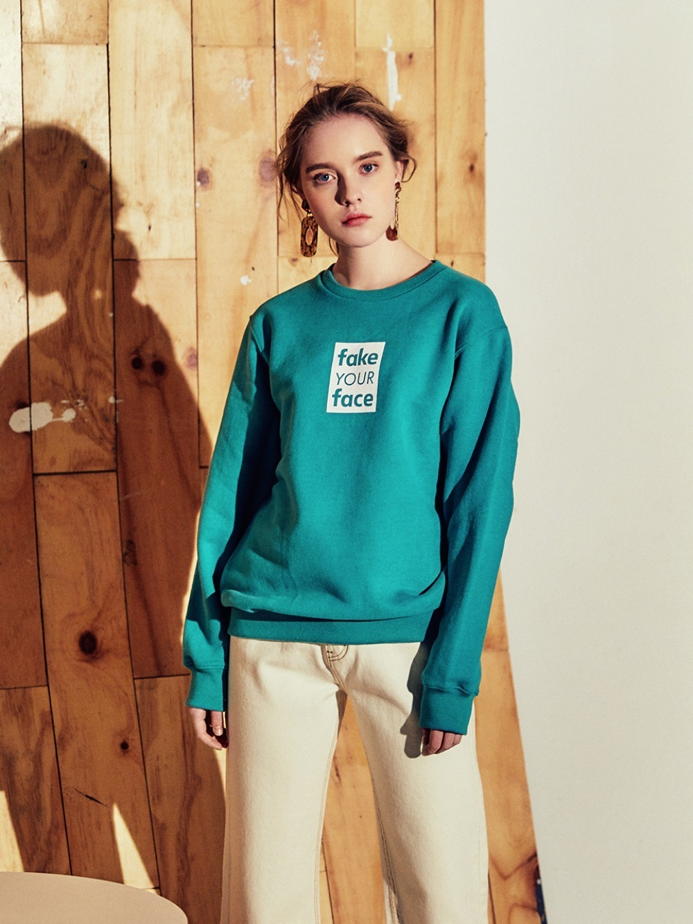 fake your face graphic sweatshirts MINT